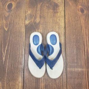 BOC BLUE SLIP ON FLIP FLOPS